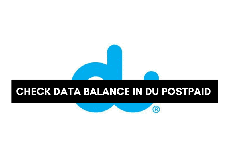 How to check data balance in du postpaid Balance
